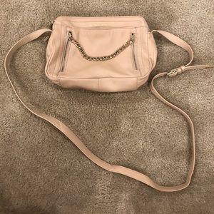Light tan/blush B-Makowsky crossbody purse